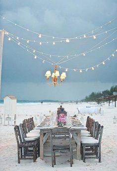 Bring your dining room…..and chandelier to the beach!