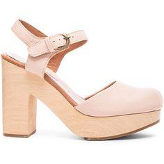 Rachel Comey Dekalb Leather Heels ($379) ❤ liked on Polyvore featuring shoes, pumps, heels, heel pump, platform heels pumps, platform shoes, full grain leather shoes and high heel platform shoes