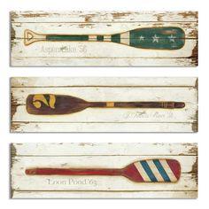 Stupell Industries Vintage Prized Oars 3 Piece Wall Plaque Set | Wayfair