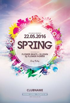 Spring Flyer Template by styleWish (Buy PSD file $9)