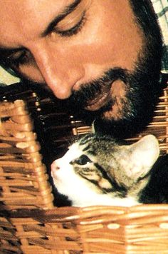Freddie Mercury and Cat.