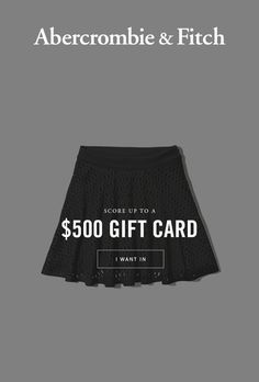 Score up to a $500 A&F gift card or one of over 30,000 other rewards. They can be released at any time and only the fastest will score big. I'm giving you a 2-minute head start. Opt in now!