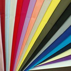 Plain Coloured Cotton Stretch Dress Fabric Material 97% Cotton 3% Spandex