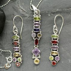Shop for Sterling Silver 'Totem Lights' Multi-gemstone Jewelry Set (India). Get free shipping at Overstock.com - Your Online World Jewelry Outlet Store! Get 5% in rewards with Club O!