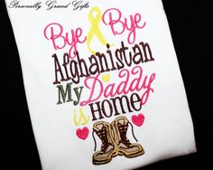 Military Welcome Home Daddy or Mommy BYE BYE by PersonallyGraced, $28.00