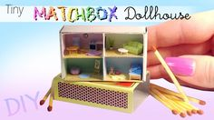 Hey guys! For today's miniature and polymer clay tutorial we're making this adorable matchbox dollhouse :) I love making these little houses - they're simple...