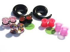 Sold as Pairs Inspiration Dezigns Glow in The Dark Dainty Zebra Stripes Single Flared Plugs