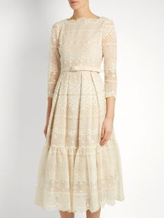 Erdem Cherlyn floral-embroidered tulle dress