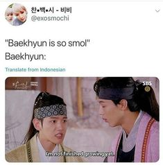 Yea ok we know that youre just 3 for petes sake - EXO - Info Korea Baekyeol, Chanbaek, Kyungsoo, Chanyeol, K Pop, Funny Kpop Memes, Exo Memes, Kpop Exo, Exo Fanart