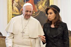 After two hours,  finished lunch Between Pope Francisco and Cristina. (AP)