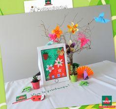L'origami téléphone du Moment Maif a beaucoup inspiré nos Hôtes pour le décorer !