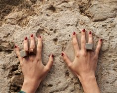 Parme Marin Jewelry #wall #stones #wood #ring