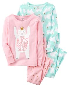 131ac1bddf 4-Piece Polar Bear Snug Fit Cotton PJs. Carter s. Carter s Hugs Before  Sleep Cotton Pajama Set