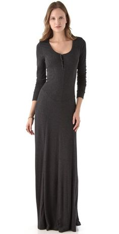 Heather Long Sleeve Rib Maxi Dress- this actually looks really comfortable. I would love this in an ivory color.. or red.
