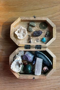 Gems kept in little box. I chose this because its a treasure chest full of gems the earth produced.