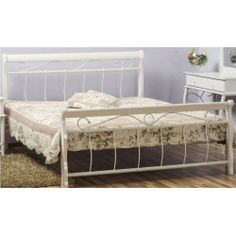 Kovová posteľ VENECJA 160x200 - biela
