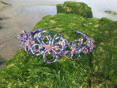 Harlequin Flower Purple Beaded Copper Wire by OnenJewellery, £35.00