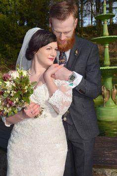 Bride wearing Sophia Tolli Riona style Y11632