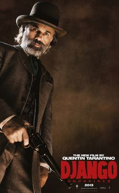 Django Unchained Poster with Christoph Waltz