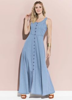Plus Size Minimalist Capsule Wardrobe Pin Up Dresses, Fashion Dresses, Summer Dresses, Demin Dress, Jeans Claro, Casual Formal Dresses, Kurta Neck Design, Vestidos Plus Size, Denim Fashion