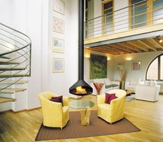 modern fireplaces, hanging fireplace design ideas for contemporary home interiors6