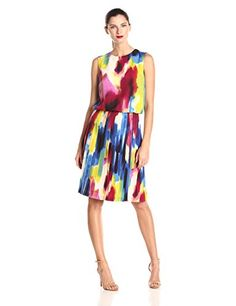 Donna Morgan Women's Sleeveless Rainbow Print Pleated Skirt Dress, Multi, 2 Donna Morgan http://smile.amazon.com/dp/B001YJ9BWO/ref=cm_sw_r_pi_dp_O.3.ub0TN2KDW