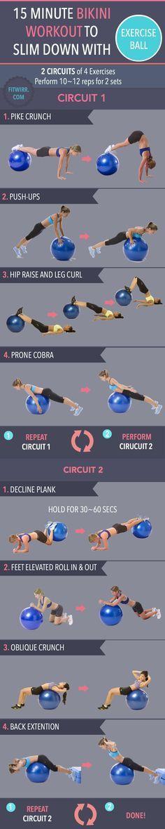 Workout mit Gymnastikball