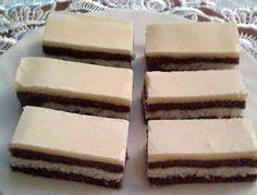 Kokosovo-kakaové řezy se žloutkovou polevou, recept | Tortyodmamy.sk Candy, Chocolate, Desserts, Basket, Tailgate Desserts, Deserts, Chocolates, Postres, Sweets