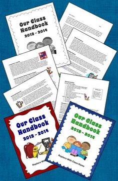 FREE Class Handbook to Customize - Includes Laura Candler's sample handbook in PDF and Word form as well as a selection of cute covers to personalize with your name!