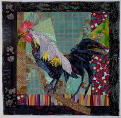 Rooster at Rest made by Ruth McDowell