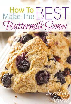Homemade Buttermilk Scones Recipe - Surviving The Stores™