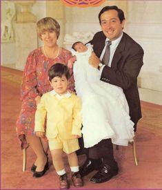 Christina avec son époux et ses deux garçons