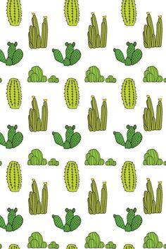 Baines and Fricker / Cactus Pattern