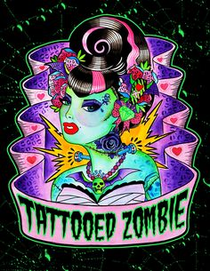 ☆ Tattooed Zombie.。Art By :→: MummysLittleMonster ☆