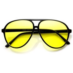 Retro Fashion Plastic Aviator Yellow Lens Sunglasses 8805 good for computer use. Yellow Lens Sunglasses, Retro Sunglasses, Mirrored Sunglasses, Sunglasses Sale, Cool Outfits For Men, Cool Glasses, Eye Glasses, Aviator Glasses, Ootd