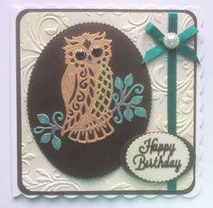 Sweet Dixie owl coloured in using gel pens.
