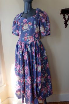 laura ashley clothing | Free Shipping Vintage 1980s Laura Ashley dress 80s Floral Garden Party ...