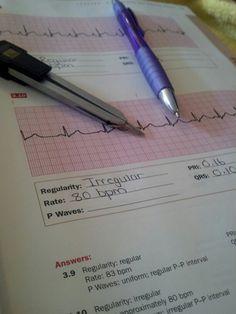 Practicing EKGs. Nurse fun!