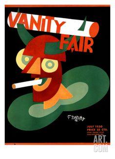 Vanity Fair Cover - July 1930 Regular Giclee Print by Depero at Art.com