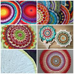 15 Colorful Mandala Crochet Patterns Perfect for Stash Busting
