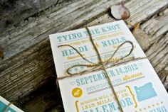 Wedding Invitation Tying the Knot Rustic Wedding by WideEyesDesign, $2.00