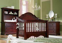 Enchanted Crib In Cherry Finish. #enchanted #crib #baby #nursery #babysdream