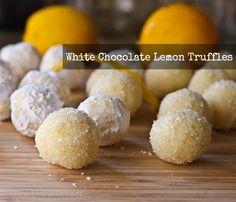 white choc lemon truffles