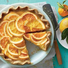 Shaker Orange Pie   This is the pie for you marmalade fans out there. Although the homemade pastry is well worth the effort, use a refrigerated piecrust if you want a shortcut.