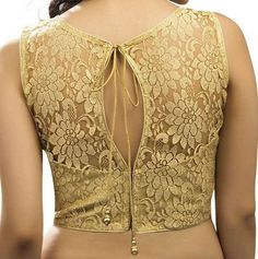 Golden Blouse Designs Collection of Latest Golden color blouse designs ideas on wedlockindia.See more ideas on golden blouse designs, Kerala blouse designs and more. Golden Blouse Designs, Netted Blouse Designs, Saree Blouse Neck Designs, Fancy Blouse Designs, Bridal Blouse Designs, Blouse Neck Models, Latest Blouse Neck Designs, Blouse Neck Patterns, Mehandi Designs