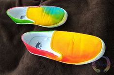 Tenisi pictati vivacitate - Tricouri pictate, Cadouri personalizate, Handmade - Piticool ART Slip On, Sneakers, Shoes, Fashion, Tennis, Moda, Slippers, Zapatos, Shoes Outlet