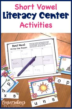 Short and Long Vowel Activities for decoding and phonics skills in the elementary classroom.  Students will love these fun ideas! Great for guided reading word work, reading interventions and literacy centers! #elementaryteacher #elementary #classroom #phonics  #conversationsinliteracy #kindergarten #firstgrade #secondgrade  #thirdgrade  kindergarten, 1st grade, 2nd grade