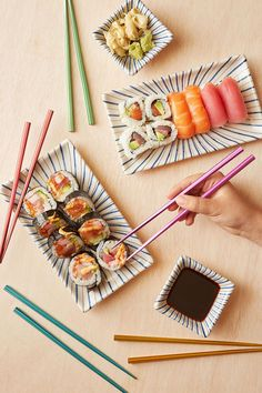 A rainbow of metallic chopsticks. | 21 Colorful Products That Are On Sale For Under $25 Right Now