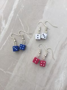 A personal favourite from my Etsy shop https://www.etsy.com/uk/listing/280416044/dice-dangle-earrings-lucky-dice-earrings