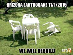 Still shaken upfrom Arizona's earthquake last night...#Arizona #AZTV